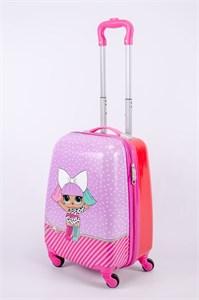 Детский чемодан PC на колесиках розовый 13348