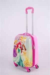 Детский чемодан PC на колесиках розовый 13349