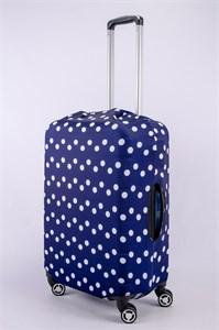"""Чехол для среднего чемодана """"крупный горошек"""" 13375"""