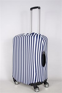 """Чехол для среднего чемодана """"вертикальная тельняшка"""" 13387"""