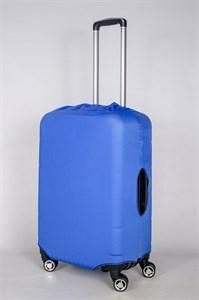"""Чехол для среднего чемодана """"однотонный ярко-синий"""" 13416"""