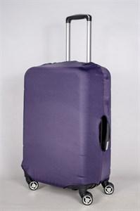 """Чехол для среднего чемодана """"однотонный фиолетовый"""" 13417"""