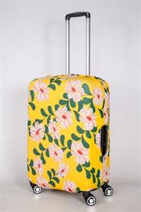 """Чехол для среднего чемодана """"цветочки на желтом фоне"""" 13424"""
