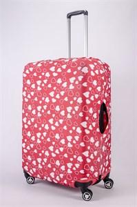 """Чехол для большого чемодана """"сердца"""" 13453"""