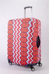 """Чехол для большого чемодана """"узоры с красным оттенком"""" 13473"""
