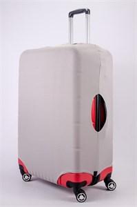 """Чехол для большого чемодана """"однотонный серый"""" 13474"""