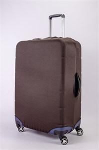 """Чехол для большого чемодана """"однотонный коричневый"""" 13477"""