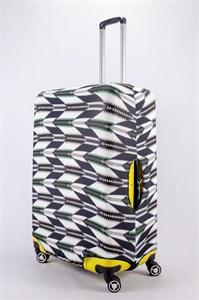 """Чехол для большого чемодана """"елочки на черно-белом фоне"""" 13484"""
