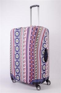 """Чехол для большого чемодана """"разноцветные узоры"""" 13485"""