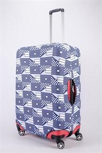"""Чехол для большого чемодана """"сине-голубые узоры"""" 13487"""