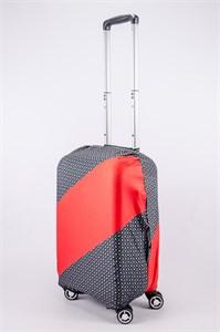 """Чехол для маленького чемодана """"косая красная полоса"""" 13514"""