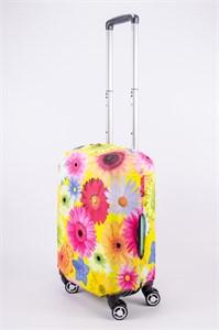 """Чехол для маленького чемодана """"крупные разноцветные ромашки"""" 13523"""