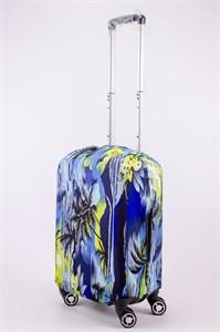 """Чехол для маленького чемодана """"тропики на синем фоне"""" 13530"""