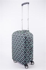 """Чехол для маленького чемодана """"зеленый горошек"""" 13531"""