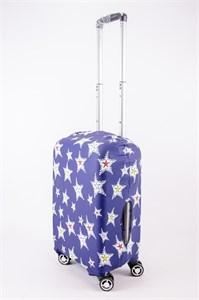 """Чехол для маленького чемодана """"звезды на синем фоне"""" 13540"""