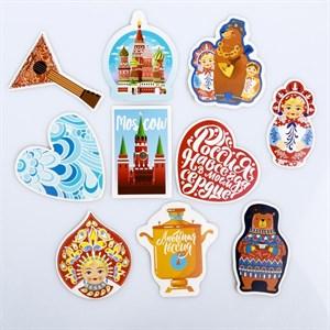 Наклейки на чемодан «Русские мотивы», 8 × 8 см  4231979