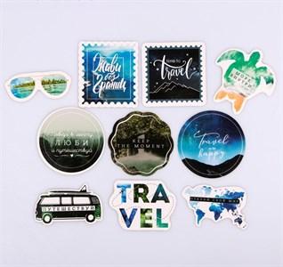 Наклейки на чемодан Travel, 8 × 8 см  4231974