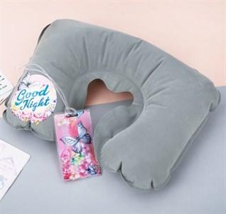 Дорожный набор «Good night»: надувная подушка, бирка на сумку  3558236
