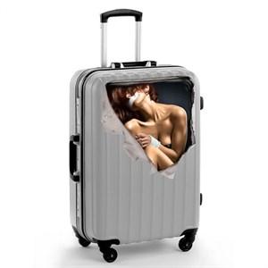 Наклейка на чемодан «Девушка», 41 × 39 см 1179709