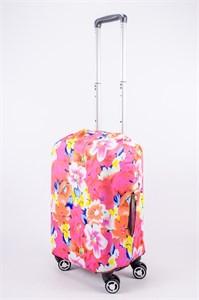 """Чехол для маленького чемодана """"разноцветная клумба"""" 13522"""