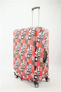 "Чехол для большого чемодана ""звезды и сердца USA style"" 13510"