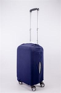"Чехол для маленького чемодана ""однотонный темно-синий"" 13562"