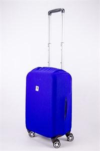 """Чехол для маленького чемодана """"однотонный синий"""" 13561"""