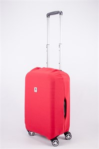 """Чехол для маленького чемодана """"однотонный красный"""" 13558"""