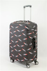 """Чехол для среднего чемодана """"губные помадки"""" 13621"""