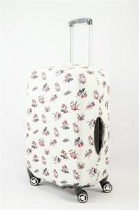 """Чехол для среднего чемодана """"маленькие цветочки на светлом фоне"""" 13631"""