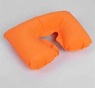 Подушка для шеи дорожная, надувная, 38 × 24 см, цвет оранжевый   135633
