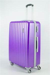 Чемодан большой ABS KK (верт  полосы)  фиолетовый (уценка)