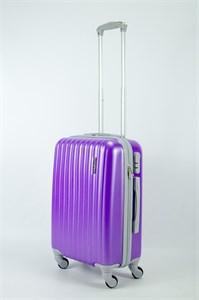 Чемодан маленький ABS KK (верт полос)  фиолетовый (СФ)