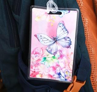 Бирка на чемодан «Бабочка», 6.5 × 10 см 3613089