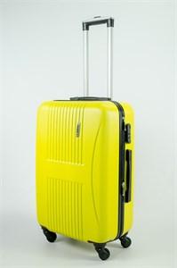 Чемодан средний ABS Hossoni (гармошка) желтый (Ч) (уценка)