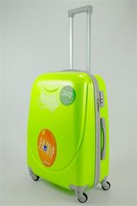 Чемодан средний ABS 360-гр smile кислотно-зеленый
