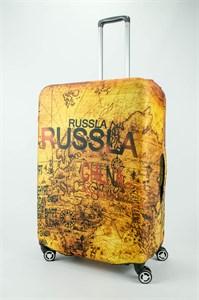 """Чехол для большого чемодана """"карта мира""""  13697"""