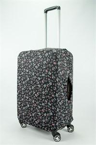 """Чехол для среднего чемодана """"красно-черный hello kitty"""" 13693"""