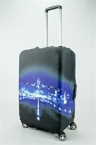 """Чехол для среднего чемодана """"Самолёт на взлёт"""" 13691"""