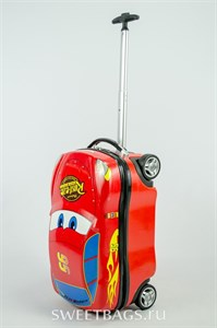 Детский чемодан машинка PC на колесиках жёлтая (Уценка)