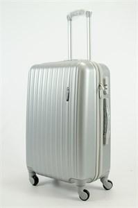 Чемодан средний ABS KK (верт полосы) серебро СФ OZ