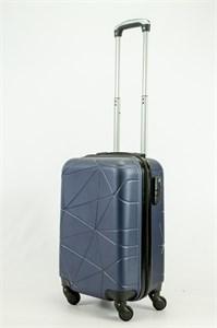 Чемодан маленький ABS (паутинка) темно-синий  ЧФ