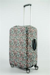 """Чехол для среднего чемодана """"разноцветная матрица"""" 13736"""