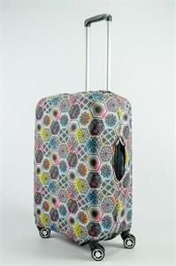 """Чехол для среднего чемодана """"разноцветные витражи"""" 13733"""