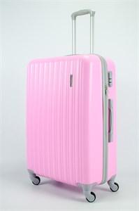 Чемодан большой ABS TT (верт  полоски) розовый (СФ)