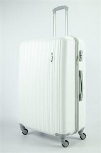 Чемодан большой ABS KK (верт  полосы)  белый