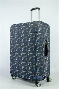 """Чехол для большого чемодана """"роcпись маркера на сером фоне"""" 13872"""