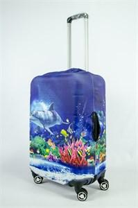 """Чехол для среднего чемодана """"подводный мир"""" 13857"""