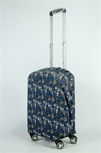 """Чехол для маленького чемодана """"роcпись маркера на сером фоне"""" 13886"""