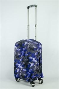"""Чехол для маленького чемодана """"бело-сине-черные стрелки"""" 13882"""